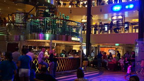 Nightly entertainment on the Carnival Breeze. The Breeze is a Dream-class cruise ship owned by Carnival Cruise which entered service in June 2012 Stock Photography