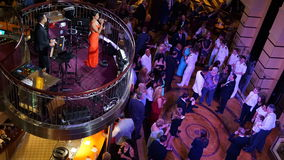 Nightly entertainment on the Carnival Breeze Royalty Free Stock Photos