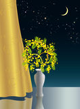 Nightly fantasy. A nosegay is in a vase Royalty Free Stock Photos