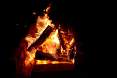 Nightly fire Stock Image
