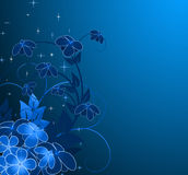 Nightly floral background Stock Image