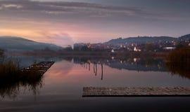 Nightly lake Royalty Free Stock Images
