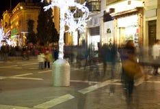 Nightly life in Valetta. Town  streets. Malta Stock Photo
