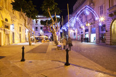 Nightly life in Valetta Stock Photo