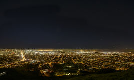 Nightly panorama av San Francisco Royaltyfria Bilder