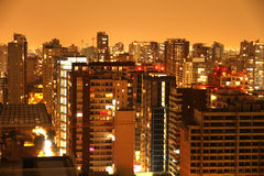 Nightly panorama of Santiago de Chile Royalty Free Stock Image