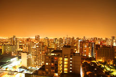 Nightly panorama of Santiago de Chile Royalty Free Stock Images
