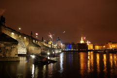 Nightly Prague Royalty Free Stock Images
