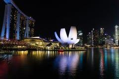 Nightly Singapore Arkivbilder