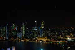 Nightly Singapore stock photos