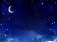 nightly sky Royaltyfria Bilder