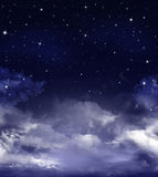 Nightly sky with stars Royalty Free Stock Photo