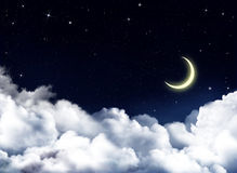 Nightly sky with stars Royalty Free Stock Photography