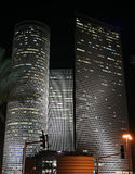Nightly Tel-Aviv. Tel-Aviv cityscape at night showing the financial district - business centre Stock Photography