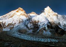 Nightly view of Mount Everest, Lhotse and Nuptse Stock Photography