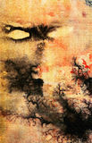 Nightmare -. Watercolor by the photographer stock illustration