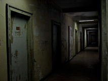Nightmare. A rotting hallway in the style of the film silent hill Royalty Free Stock Photos