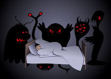 Nightmare. Vector illustration. Jpeg 3508x2480. EPS-8 Stock Photo