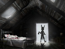 Nightmare in the attic Royalty Free Stock Image