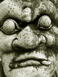 Nightmare demon. Detail of a statue in Grand Palace (Bangkok - Thailand stock photos