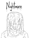 Nightmare face. Creative draw of nightmare face Royalty Free Stock Photos