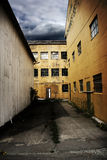 Nightmare Institution. An old abandoned building, factory, hospital, prison or institution. Grunge style stock photos