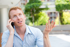 Nightmare phone calls Stock Images