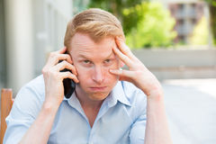 Nightmare phone calls Royalty Free Stock Photography
