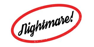 Nightmare rubber stamp Stock Image
