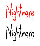Nightmare symbol Royalty Free Stock Image