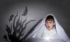 Nightmares of child Stock Images