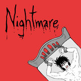 Nightmares illustration Stock Photos