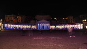 Nightphoto της βασιλικής Reale SAN Francesco Di Paola Στοκ Εικόνες