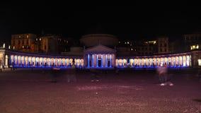 Nightphoto della basilica Reale San Francesco di Paola Fotografia Stock
