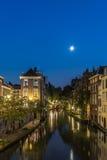Nightportrait van Utrecht Royalty-vrije Stock Fotografie