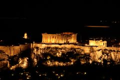 Nights of parthenon Stock Images