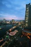 nightscape横滨 免版税图库摄影