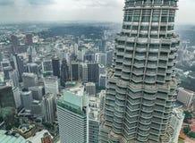 Nightscape των δίδυμων πύργων Petronas Στοκ Φωτογραφίες