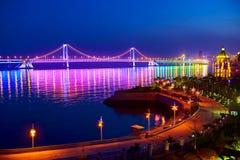 Nightscape моста Стоковое фото RF