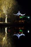 Nightscape antique d'architecture de la Chine Images libres de droits