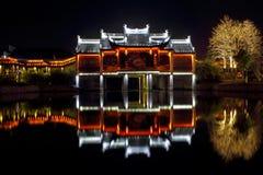 Nightscape antique d'architecture de la Chine Image stock