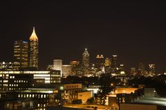 Nightscape of Atlanta Royalty Free Stock Photos
