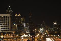 Nightscape of Atlanta Stock Photo