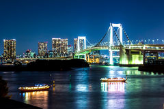 Nightscape of the bay of  Tokyo, Japan Royalty Free Stock Image