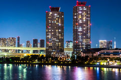 Nightscape of the bay of  Tokyo, Japan Stock Photo