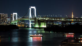 Nightscape of the bay of  Tokyo, Japan Stock Images