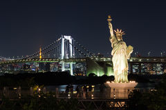 Nightscape of the bay of  Tokyo, Japan Royalty Free Stock Photos