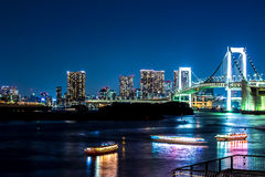 Nightscape of the bay of  Tokyo, Japan Stock Image