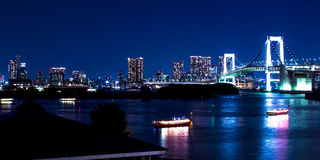 Nightscape of the bay of  Tokyo, Japan Stock Photography