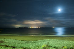 Night landscape of Lanzarote Stock Photo